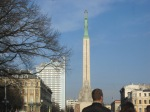 The Freedom Monument and BLUE SKIES