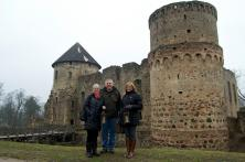 Steve, Claudia and Baiba - Castle