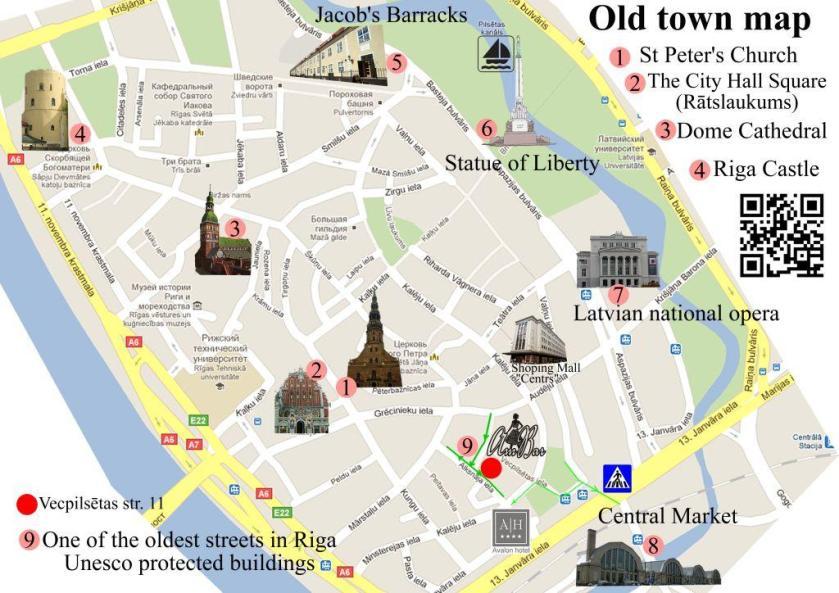 תוצאת תמונה עבור riga old town map