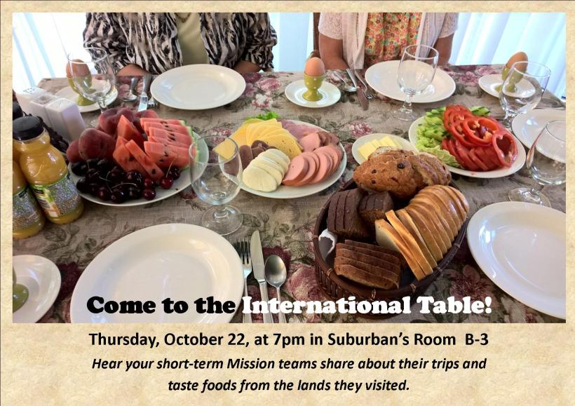 Invitation to Come to the International Table