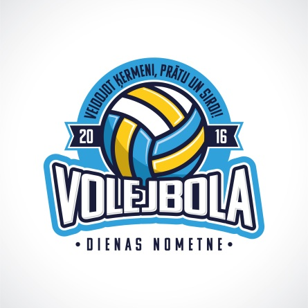 VolleyballCamp Logo - Latvian Design
