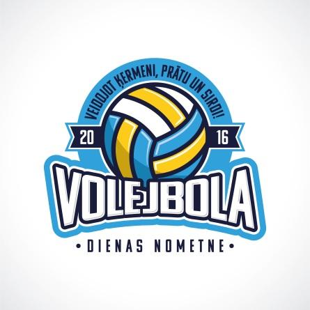 VolleyballCamp Logo - Latvian Design